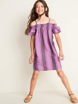 Old Navy Printed Cold-Shoulder Swing Dress for Girls