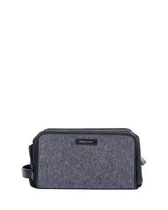 hook + ALBERT Melange Leather-Trim Toiletry Bag
