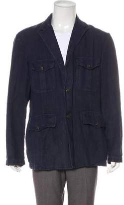 Etro Linen Button-Up Jacket