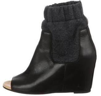 MM6 MAISON MARGIELA Peep-Toe Wedge Boots