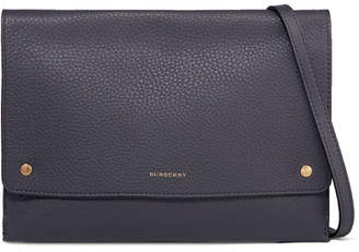 Burberry Textured-leather Shoulder Bag - Charcoal
