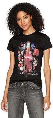 Coca-Cola Women's Classic Coke Bottle Floral Film Graphic Crew Tee