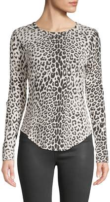 Chaser Leopard-Print Long-Sleeve Top