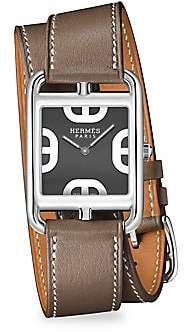 HERMÃS Women's Cape Cod Stainless Steel & Leather Double-Wrap Watch