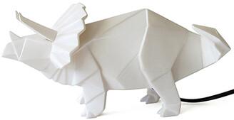 House Of Disaster House of disaster - White Origami Triceratops Dinosaur Lamp - White
