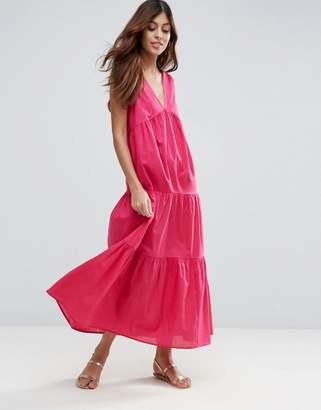 ASOS Tiered Cotton Maxi Dress $56 thestylecure.com