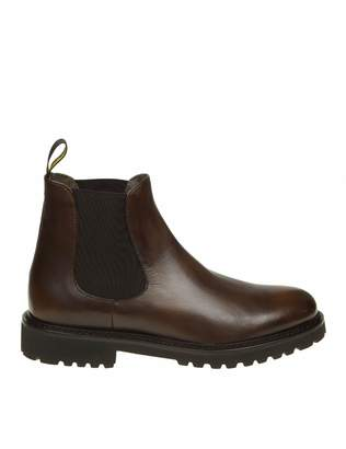 Doucal's Brown Leather Ankle Boot