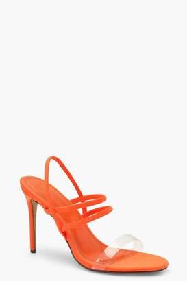boohoo Strappy Neon Heels
