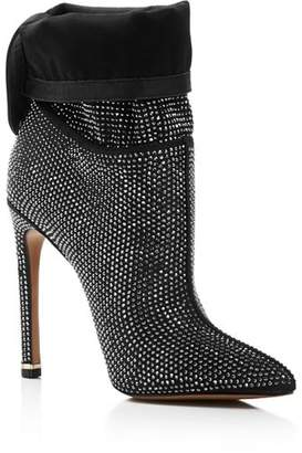 Kenneth Cole Women's Riley Metallic Fabric Slouch High-Heel Boots