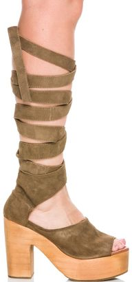 Free People Touch The Sky Wrap Clog $198 thestylecure.com