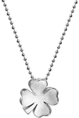 """Alex Woo Sterling Silver Luck Clover Bloom Necklace, 16"""""""