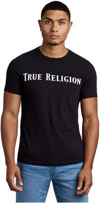 True Religion MENS STRAIGHT LOGO CREW NECK TEE
