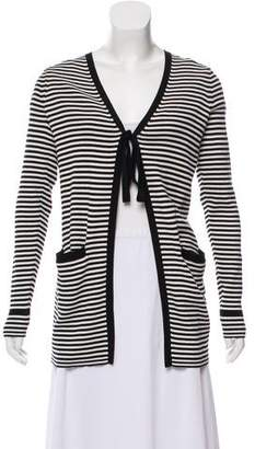 Marc Jacobs Striped Rib Knit Cardigan