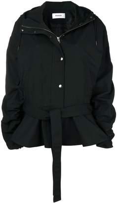 Chalayan peplum hoodie jacket