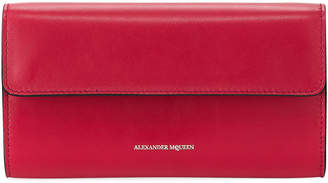 Alexander McQueen Leather Chain Flap Wallet