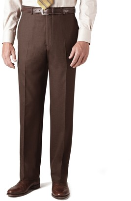Brooks Brothers Country Club Saxxon Wool Madison Fit Plain-Front Trousers