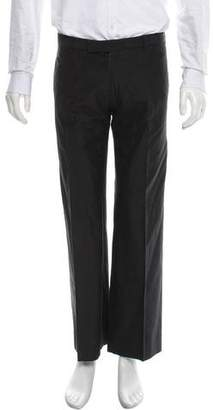 Christian Dior Flat Front Pinstripe Pants