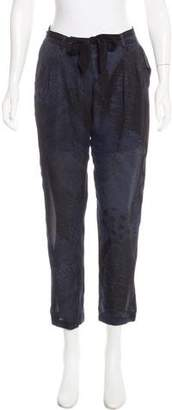 Raquel Allegra Silk Mid-Rise Pants w/ Tags