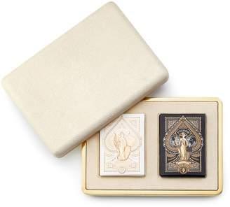 Shagreen Card Case, Cream