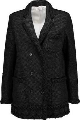 Thom Browne Bead-Embellished Cotton-Blend Blazer