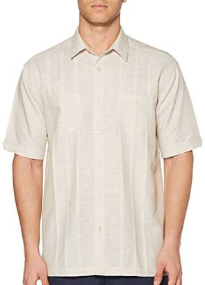 Cubavera Men's Short Sleeve Two Pocket Tuck Woven Shirt