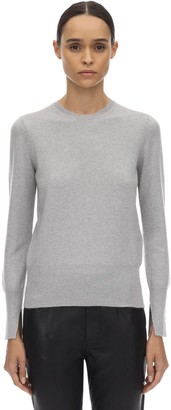 Salvatore Ferragamo Cashmere Knit Sweater W/asymmetric Cuffs
