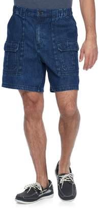 Croft & Barrow Men's Classic-Fit Denim Side-Elastic Cargo Shorts