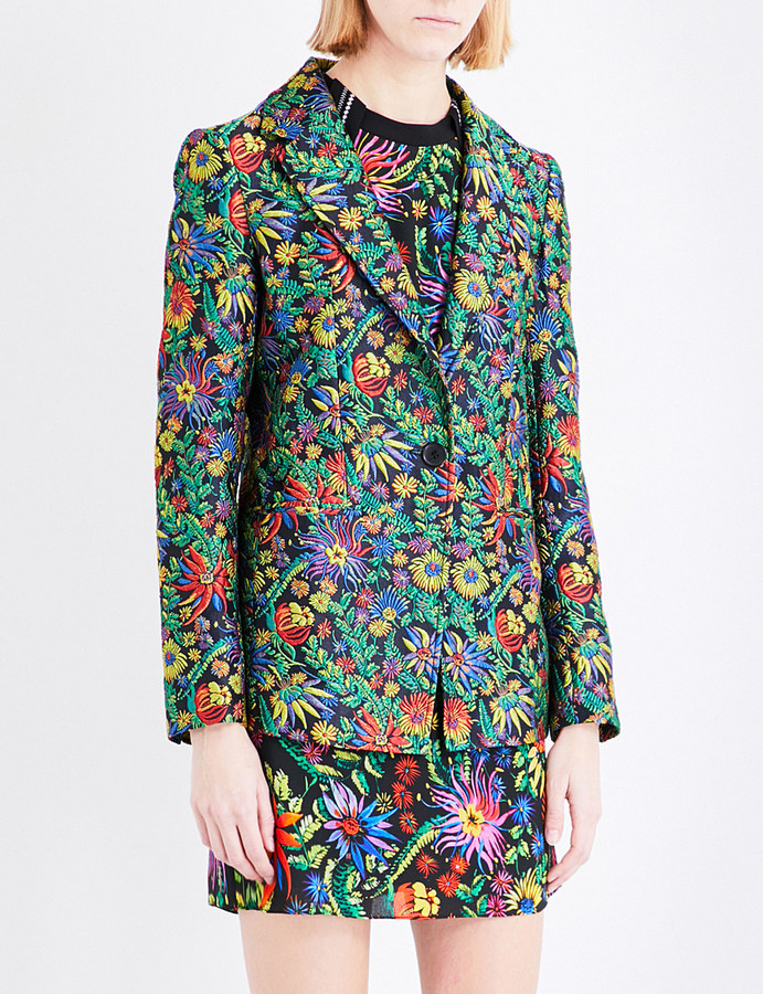 3.1 Phillip Lim 3.1 Phillip Lim Single-breasted floral-cloqué blazer