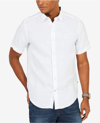 Nautica Men Classic-Fit Solid Linen Shirt