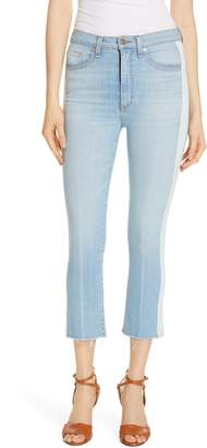 Veronica Beard Carly Tuxedo Kick Flare Jeans