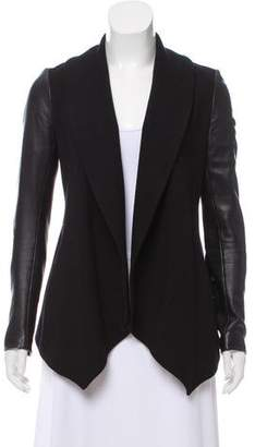 Theory Faux Leather Casual Jacket