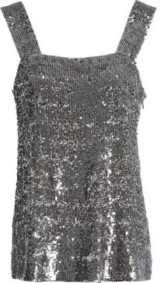 Alexis Sequined Silk Top