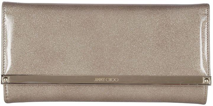 Jimmy ChooJimmy Choo Sand Glitter Patent Accessory Clutch Bag