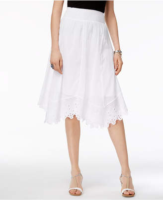 Style & Co Cotton Embroidered Handkerchief-Hem Skirt, Only at Macy's $54.50 thestylecure.com