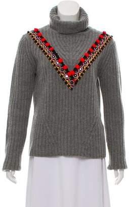 Altuzarra Wool-Cashmere Rib Knit Turtleneck