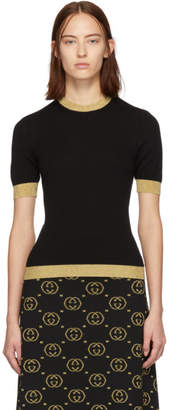 Gucci Black and Gold Cashmere Sweater