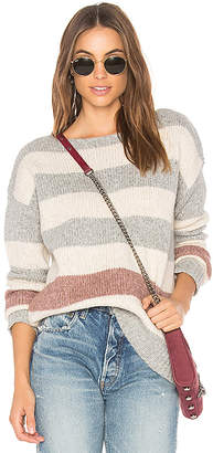 White + Warren Bold Stripe Bateauneck Sweater
