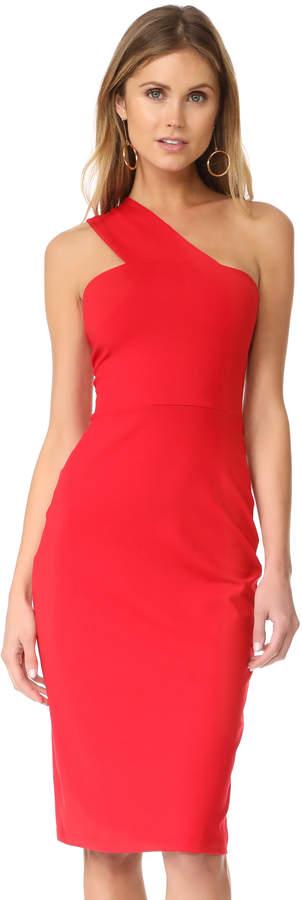 Red One Shoulder Dress - ShopStyle Australia