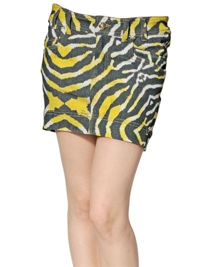 Just Cavalli Stretch Mini Denim Skirt