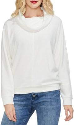Vince Camuto Sapphire Sheen Cowlneck Sweater