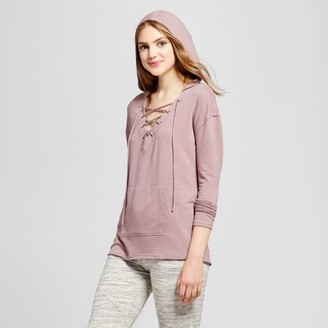 Mossimo Supply Co. Women's Front Lace-Up Hoodie - Mossimo Supply Co. $17.99 thestylecure.com