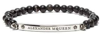 Alexander Mcqueen - Skull And Beads Bracelet - Mens - Black