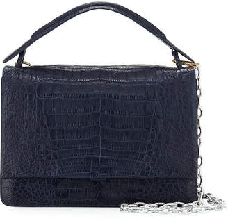 Nancy Gonzalez Crocodile Top-Handle Bag w/Chain Strap