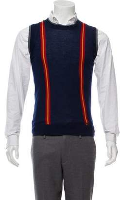 DSQUARED2 Wool Stripe-Accented Vest