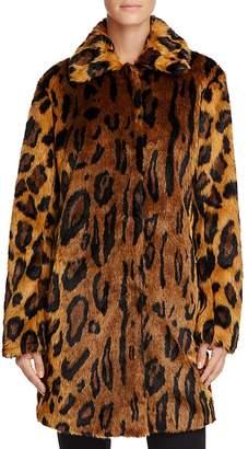 GUESS Abigal Leopard Print Faux Fur Coat $178 thestylecure.com