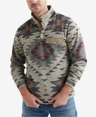 Lucky Brand Men Fleece Aztec Sweater