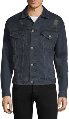 Dim Mak Obex Distressed Denim Jacket