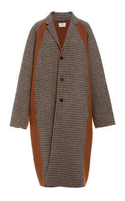 Deveaux Oversized Checked Wool-Blend Coat