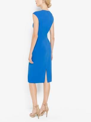Michael Kors Stretch Wool-Crepe Cap-Sleeve Sheath Dress