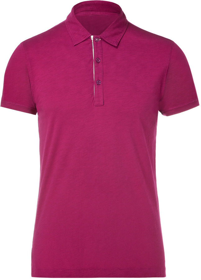 Burberry brit magenta pink shortsleeves polo shirt sold for What stores sell polo shirts